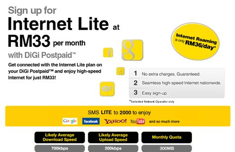 OneVsOne: Internet Lite plan at rm33 only with DiGi Postpaid
